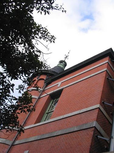 Old building of red bricks