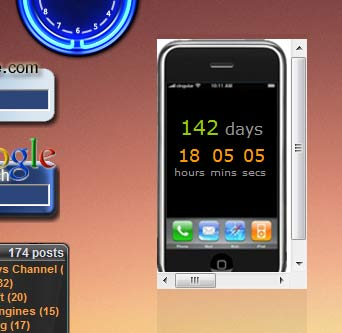iPhone Countdown Gadget in Vista
