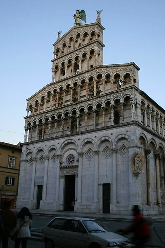 The very cool facade of the Chiesa di San Michele in Foro, Lucca