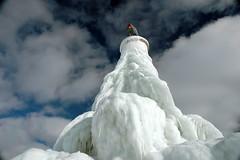 the towering ice sculpture (snapstill studio) Tags: winter snow cold ice lakemichigan beacon breakwater petoskey littletraversebay martinmcreynolds