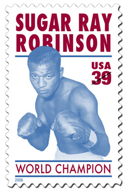 Sugar Ray Robinson Stamp
