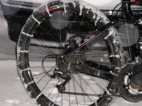 bicycle traction system, tire chains