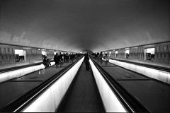 metro (manuel cristaldi) Tags: leica city travel light people blackandwhite bw paris france film 35mm underground subway blackwhite neon gallery noiretblanc metro trix lesdeuxmagots tapisroulant mostexcellent metrolife favorites10 views1000 greatpixgallery10faves moooochebellafoto manuelcristaldi feltlife coolestphotographers everywherewalks metrobw manuelcristaldi