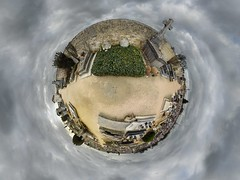 Van Gogh's grave (gadl) Tags: panorama france cemetery grave graveyard tripod gimp projection planet polar vangogh 360 tombe auvers cimetire vincentvangogh stereographic hugin plante valdoise auverssuroise enblend mathmap stereographicprojection 303sph 95430 theodorevangogh