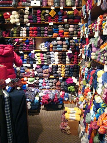 Visiting Homespun, a Yarn Store