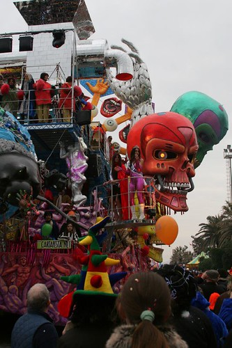 Float with Skulls and Dancing People.
