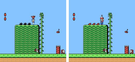 Doki Doki Panic contra Super Mario Bros. 2