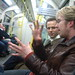 Daniel and Chris on the tube