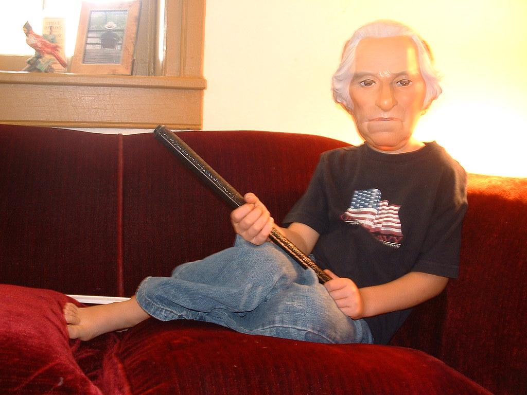 George Washington with a stick