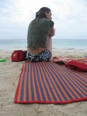 Karen on the beach