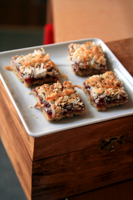 Coconut Raspberry Oatmeal Bars