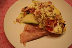 schinken-tomaten-lasagne mit frischkäse & basilikum