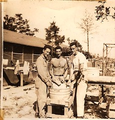 WW2 Dad and buddies (Globetoppers) Tags: father normandy basictraining sohl 12thinfantry scansofwwiiscrapbook