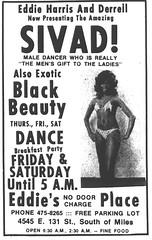 Eddie's Place (ClevelandSGS) Tags: ladies party wild woman beauty sex lady breakfast club vintage dance parkinglot cleveland exotic stunning miles venue blackbeauty maledancer e131 sivad