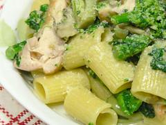 春野菜と鶏肉のリガトーニ