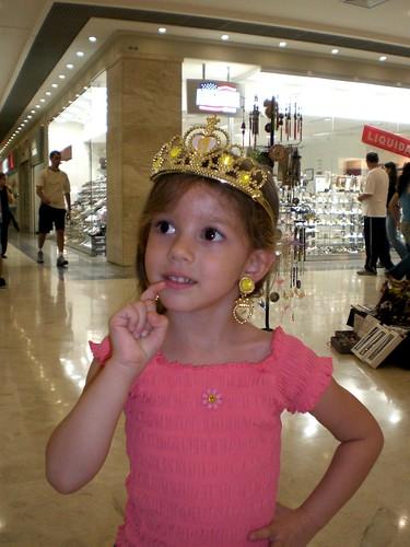 Yohanah vestida de princesa