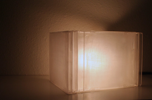 cd case lamp, landscape style by MayaEvening.
