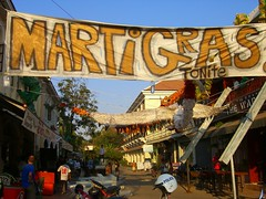 Marti Gras on Saturday - Siem Reap