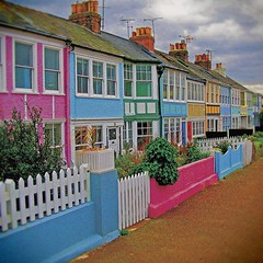 Whitstable: Cottages (County of Kent UK) (steffanmacmillan) Tags: england beach seaside travels colours skylight overcast pebblebeach lichen colourful m2 whitstable brilliant a2 chimneys brickwork daytrip springtime supershot 10faves tvaerials outstandingshots northkent anawesomeshot travelerphotos victorianresort chimnneypots multicolouredcottages