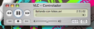 Bailando con lobos.avi reproduciéndose en un VLC sobre Mac OS X
