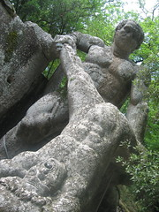 The Sacred Woods of Bomarzo (Hardinal Cands) Tags: italy green pain woods italia agony evil stretch fantasy torture monsters misery salvadordali mythology lazio bomarzo mutilation suffer boscosacro intensepain
