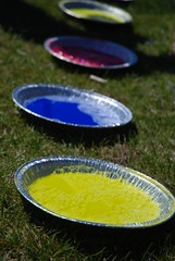 Food coloring, Dawn, cornstarch and water