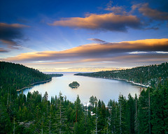A Verse From the Center (Lightchaser) Tags: california trees mediumformat landscapes sunsets laketahoe eyecandy alpenglow emeraldbay fujivelvia naturesfinest transparencyfilm outstandingshots isawyoufirst superbmasterpiece lta04100