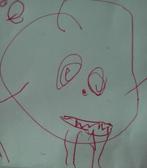 My son, monster artist