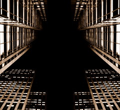 darkness will take you too... (AtillaSoylu) Tags: toronto night buildings d50 nikon symmetry gta turkish doubledouble skyscapers atilla simetri loookingup soylu 35mmf2af nikonstunninggallery dublicate dsc0014sepia2duplresize blogtofff20070330