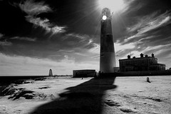 Portland Bill (Joe Dunckley) Tags: uk sea england bw water monochrome portland lighthouses 123 dorset englishchannel redfilter portlandbill worldheritagesites jurassiccoast 123f 2for2 twtme a1f1 top20lh 123s abigfave top20lh20 50f123