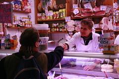 Urbano greets a regular customer
