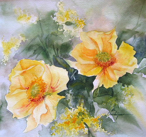 watercolor paintings of flowers. flower watercolor middot; flowers