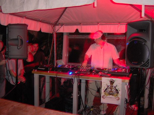 Award Y Ultra Lounges DJ Moat The Small Stage That Held Outdoor Booth In Front Courtyard Was Surrounded By
