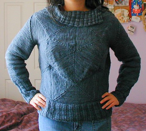 bubble pullover, completed
