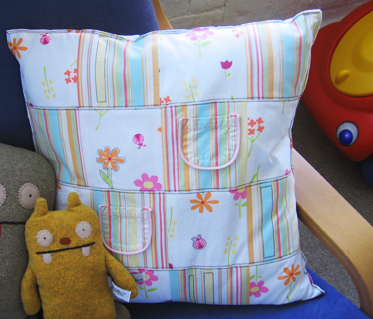 Patchwork pillow for Lara's room