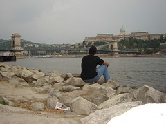 Panorama Széchenyi Lánchíd & Budai Vár, Budapest, Hungary