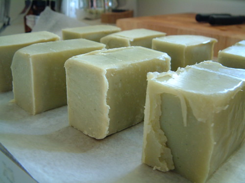 Green Sage Soap Closeup