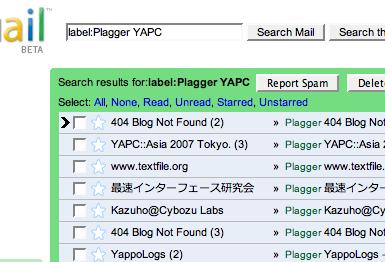 YAPC by plagger