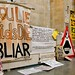 """Mark Wallinger, Turner Prize 2007: """"You Lie Kids Die BLIAR"""" - Brian Haw's protest goes to Tate Britain"""