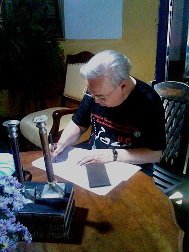 Aldemaro Romero y mi autógrafo