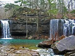Twin Falls at Richland Creek (***TR.iPod) Tags: watr tripodtripodphotosarkansasrichlandcreekwildernessbigdevilforklongdevilforktwinfallshikeoutdoortrekwaterfallsspringgeotaggednaturesfinestdiamondclassphotographernikonstunninggallerywww