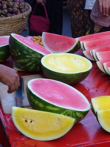 Yellow watermelon!