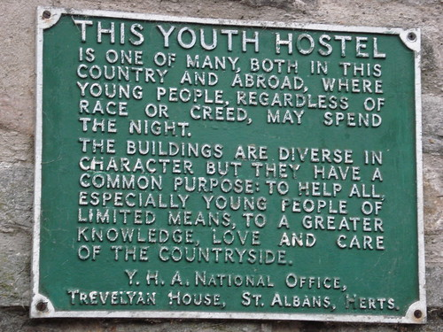 Youth Hostel Sign, Castleton Taken