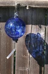 Blown Glass Birdfeeder (Sunny Day Photography) Tags: glass garden birdfeeder blown
