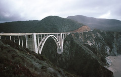 Bridge CA Coast (Meremail) Tags: california ca bridge cliff usa white beach coast country coastroad