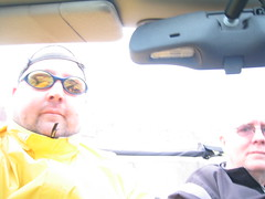 Brrr - cold convertable driving in Arches (wiseleyb) Tags: chicken tom utah motorcycle moab corners canyonland