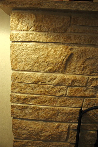 Peggy's fireplace repainted stone texture