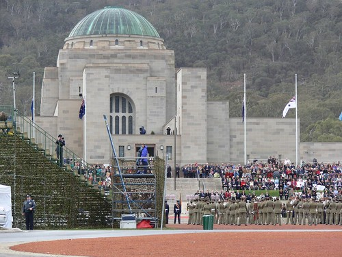War Memorial + Crowd