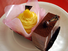 Cakes - Marron and Chocolate (earthhopper) Tags: castle cake japan geotagged dessert chocolate patisserie chestnuts sweets okinawa heidelberg  marron  chatan     geo:tool=yuancc     geo:lat=26308027 geo:lon=127763599