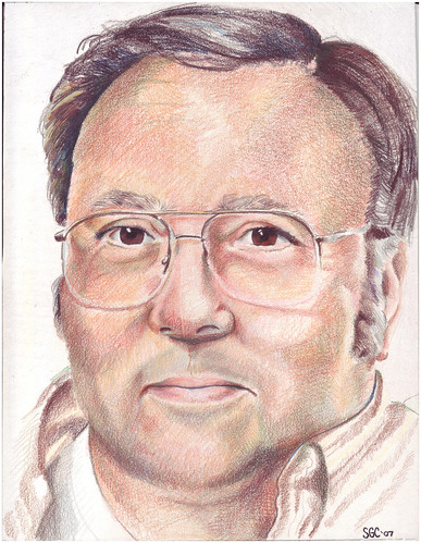 Colored pencil drawing entitled Dad